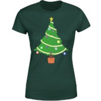 Buttons Tree Womens T-Shirt - Forest Green - S - Forest Green