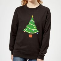 Buttons Tree Women's Sweatshirt - Black - XL - Black