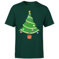 Buttons Tree T-Shirt - Forest Green - L - Forest Green