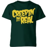 Creepin it Real Kids' T-Shirt - Forest Green - 5-6 Years - Forest Green