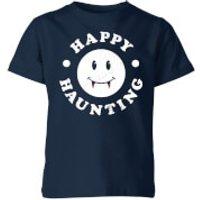 Happy Haunting Kids' T-Shirt - Navy - 5-6 Years - Navy
