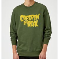 Creepin it Real Sweatshirt - Forest Green - XL - Red