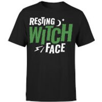 Resting Witch Face T-Shirt - Black - 5XL - Black