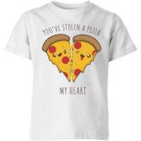 A Pizza My Heart Kids T-Shirt - White - 11-12 Jahre - Weiß