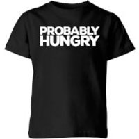 Probably Hungry Kids T-Shirt - Black - 11-12 Years - Black
