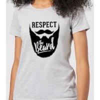 Respect the Beard Women's T-Shirt - Grey - XS - Grey