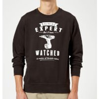 Im not an Expert Sweatshirt - Black - L - Black