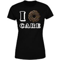 I Donut Care Women's T-Shirt - Black - S - Black