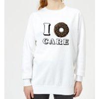 I Donut Care Women's Sweatshirt - White - XS - White