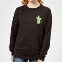 Cactus Fairy Lights Women's Sweatshirt - Black - M - Schwarz