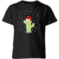 Cactus Santa Hat Kids' T-Shirt - Black - 9-10 Years - Black