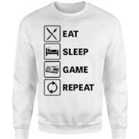 Eat Sleep Game Repeat Sweatshirt - White - L - White