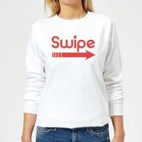 Swipe Right Women's Sweatshirt - White - L - White