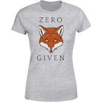 Zero Fox Given Womens T-Shirt - Grey - M - Grey