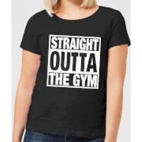 Straight Outta the Gym Women's T-Shirt - Black - XS - Black - Gym Gifts