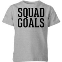Squad Goals Kids' T-Shirt - Grey - 9-10 Years - Grey