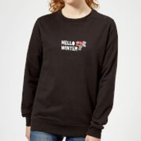 Hello Winter Women's Sweatshirt - Black - M - Schwarz