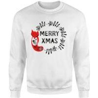 Merry Christmas Sweatshirt - White - XXL - White