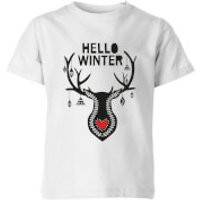 Hello Winter Kids' T-Shirt - White - 11-12 Years - White