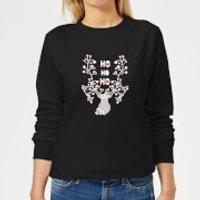 Ho Ho Ho Women's Sweatshirt - Black - L - Black