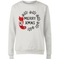 Merry Christmas Women's Sweatshirt - White - XXL - White
