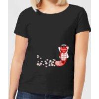 Flower Fox Women's T-Shirt - Black - M - Black
