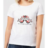 Meet Me Underneath The Mistletoe Women's T-Shirt - White - 5XL - White - Mistletoe Gifts