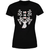 Ho Ho Ho Reindeer Women's T-Shirt - Black - S - Black - Reindeer Gifts