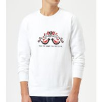 Meet Me Underneath The Mistletoe Sweatshirt - White - 5XL - White - Mistletoe Gifts