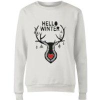 Hello Winter Women's Sweatshirt - White - XL - Weiß