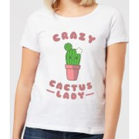 Crazy Cactus Lady Women's T-Shirt - White - XXL - White - Crazy Gifts