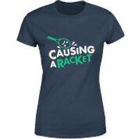 Causing a Racket Women's T-Shirt - Navy - S - Navy