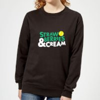 Strawberries and Cream Women's Sweatshirt - Black - 3XL - Black