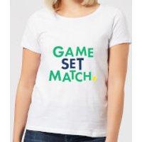 Game Set Match Women's T-Shirt - White - 3XL - White