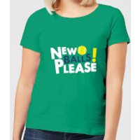 New Balls Please Women's T-Shirt - Kelly Green - S - Kelly Green