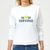 Now Serving Women's Sweatshirt - White - L - White