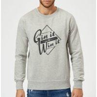 Gin it to Win it Sweatshirt - Grey - XXL - Grey