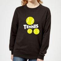 Tennis Balls Women's Sweatshirt - Black - 5XL - Black - Tennis Gifts