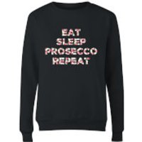 Eat Sleep Prosecco Repeat Women's Sweatshirt - Black - S - Black