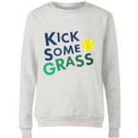 Kick Some Grass Womens Sweatshirt - White - L - White