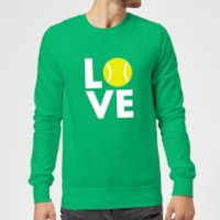 Love Tennis Sweatshirt - Kelly Green - XXL - Kelly Green - Tennis Gifts