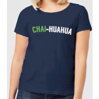 Chai-huahua Women's T-Shirt - Navy - L - Navy