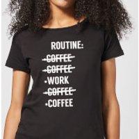 Coffee Routine Women's T-Shirt - Black - M - Black