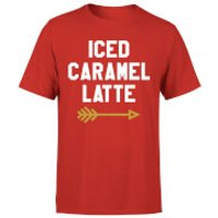 Iced Caramel Latte T-Shirt - Red - S - Red - Caramel Gifts