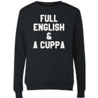 Full English and a Cuppa Women's Sweatshirt - Black - XL - Black