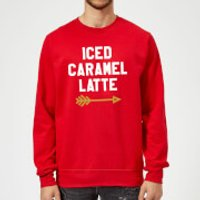 Iced Caramel Latte Sweatshirt - Red - S - Red - Caramel Gifts