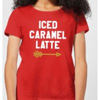 Iced Caramel Latte Women's T-Shirt - Red - L - Red - Caramel Gifts