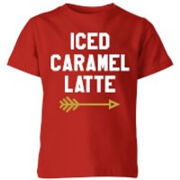 Iced Caramel Latte Kids' T-Shirt - Red - 7-8 Years - Red - Caramel Gifts