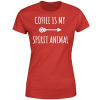 Coffee is my Spirit Animal Womens T-Shirt - Red - S - Red