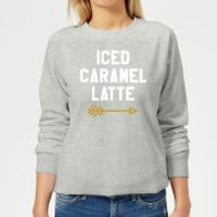 Iced Caramel Latte Women's Sweatshirt - Grey - XL - Grey - Caramel Gifts